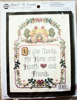 Nmi Stitch N Frame Home And Hearth  Counted Cross Stitch Kit  4098 House 8X10