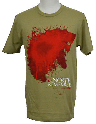 Tan Graphic Tee Shirt (Game of Thones T-shirt North Remembers Bloody Stark Sigil Graphic Tee Tan NWT )