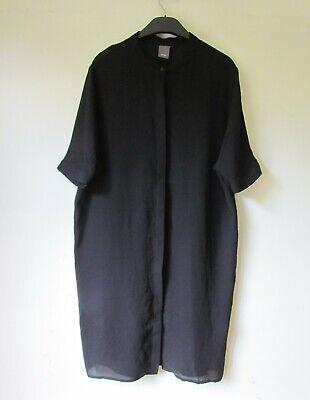 ICHI Black Semi Sheer Longline Blouse Shirt NEW Size S approx 10 12