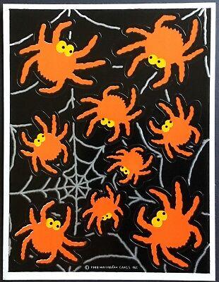 Sheet of Vintage Stickers - Hallmark - Halloween - Dated 1988](Date Of Halloween)