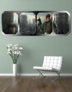 JUDGE DREDD   MEGA CITY ONE    !!! GIANT WINDOW VIEW   PRINTED POSTER