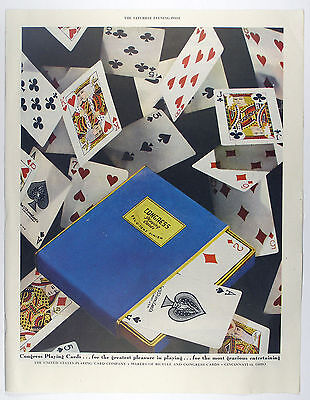 Vintage 1947  - CONGRESS PLAYING CARDS Large Full Page Magazine Print Ad