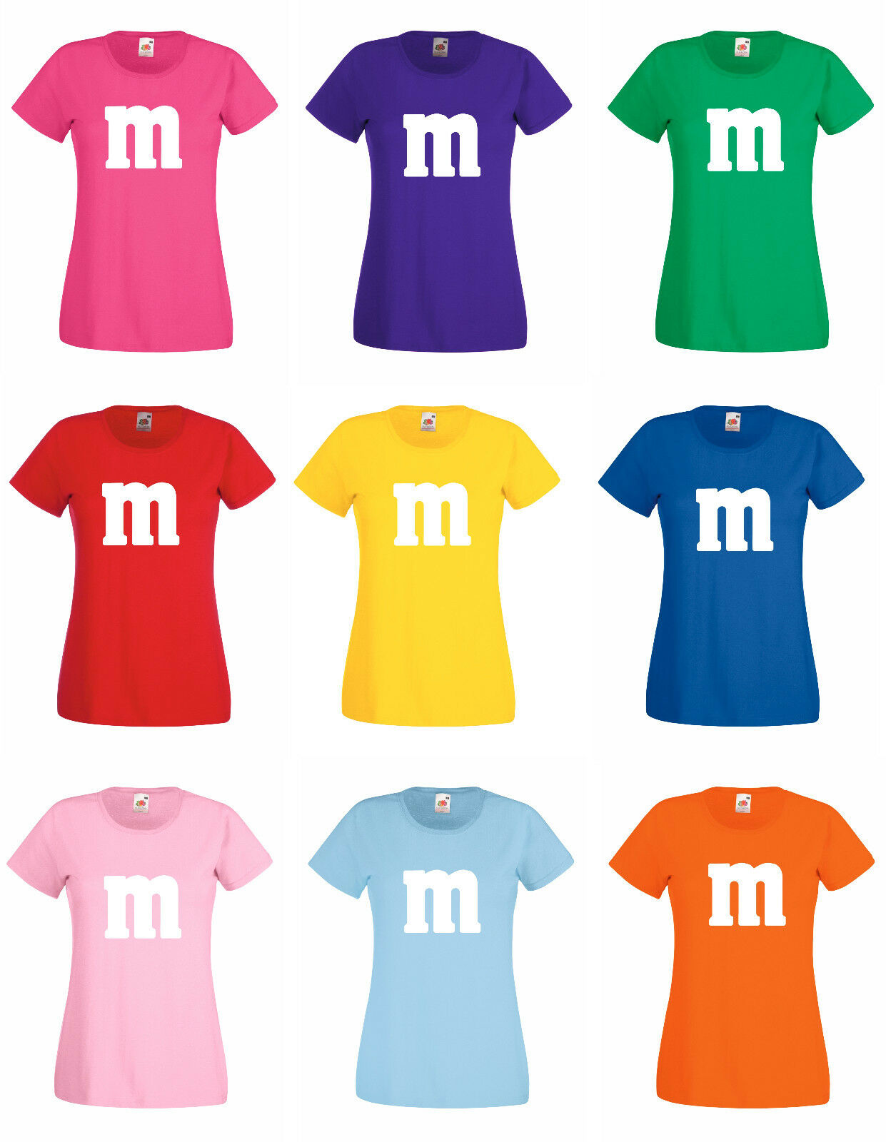 Gruppenkostüm oder Paarkostüm für M&M Fans Karneval oder Fasching Damen/Herren