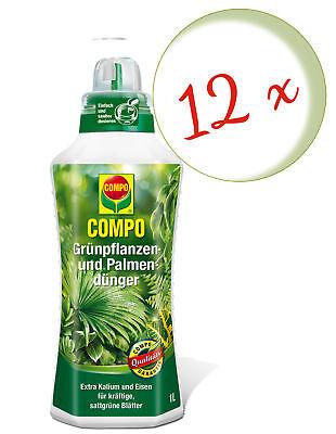 Savings Set: 12 X Compo Green Plant And Palmendünger, 1 Litre