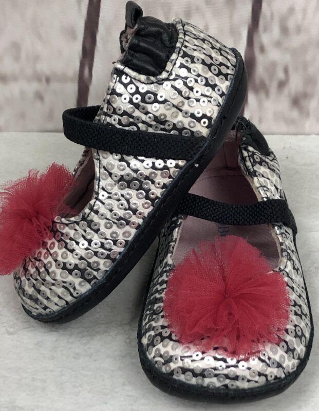 Mary Jane Infant Shoes Black /& White Zebra