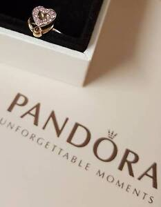 Genuine Discontinued Pandora Sterling Silver With 14 ct Gold Ring Carina Heights Brisbane South East Preview