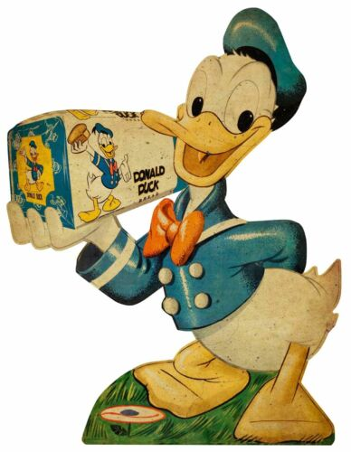DONALD DUCK BREAD GENERAL STORE STYLE HEAVY DUTY USA MADE METAL ADVERTISING SIGN