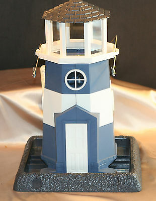 NWT Shoreline Blue Bird Feeder Light House By North States Village Collection US