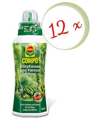 Savings Set: 12 x Compo Green Plant and Palmendünger, 500 ML