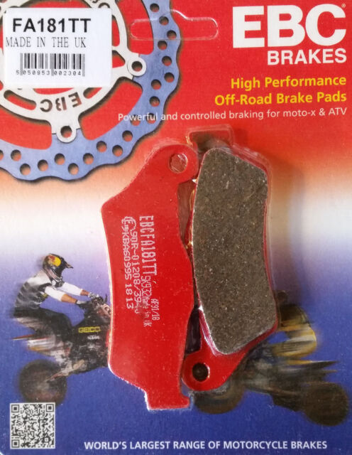 KTM EXC 250 / SIX DAY  EBC FRONT BRAKE PADS FA181 TT FITS YEARS  1995 TO 2017