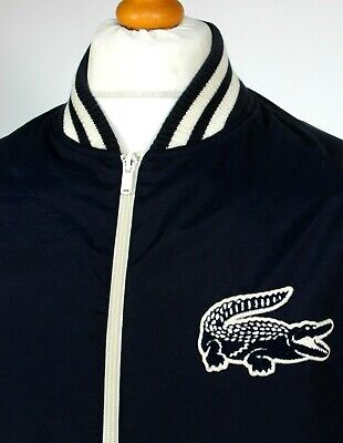 "Lacoste L!VE | P.U Coated Bomber Jacket(Navy) - XL|2XL|48"" - Ska Mod Scooter"