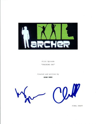 Judy Greer & Chris Parnell Signed Autographed ARCHER Training Day Script COA VD