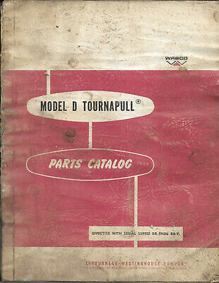 Letourneau-westinghouse Model D Tournapull Parts Catalog Dr Thru Dr-v Pc-323