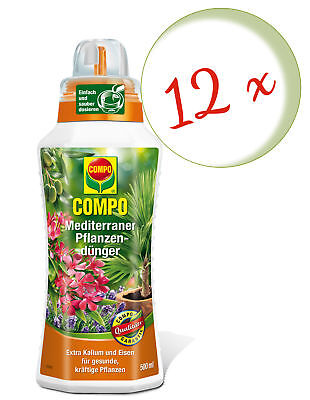 Savings Set: 12 x Compo Mediterranean Plant Fertilizer, 500 ML