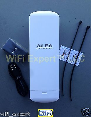 ALFA N2S PoE Long-Range Outdoor AP/CPE with built in 10dBi High Gain Antennas US