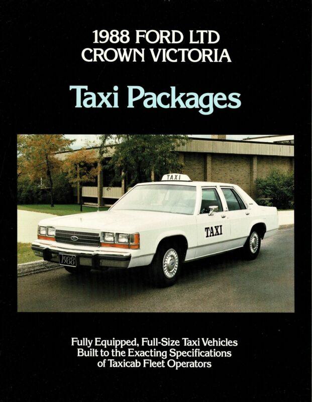 1988 Ford LTD Crown Victoria Taxi NOS Dealer Sales Brochure
