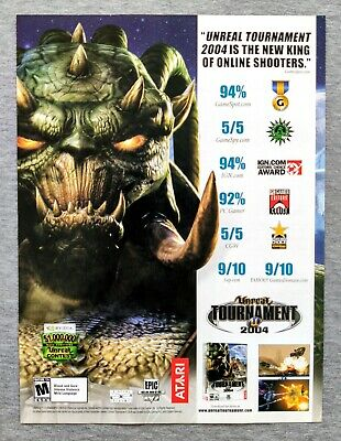 Unreal Tournament 2004 PC | 2004 Vintage Print Ad Poster Art Official Promo Rare