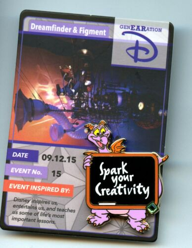 Disney 20th Anniversary Re-Collections Trading Card Dreamfinder & Figment Pin