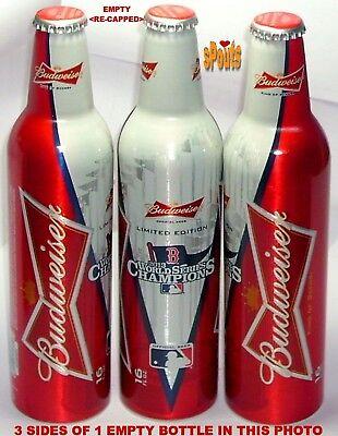 2013 WORLD SERIES BOSTON RED SOX MLB BASEBALL BUDWEISER ALUMINUM BOTTLE BEER CAN