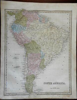 South America continent 1841 Goodrich Bradford Boynton map
