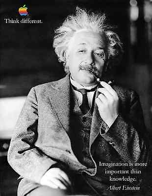 ALBERT EINSTEIN APPLE THINK DIFFERENT MOTIVATION INSPIRATION POSTER on Rummage