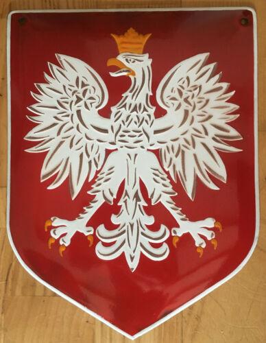 Emblem Poland EAGLE   Porcelain Enamel Sign