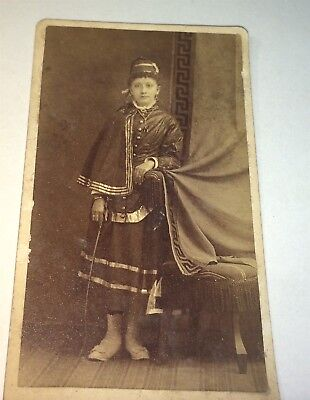 Circus Horse Costume (Rare Antique Sideshow Circus Horse Rider Costume Fashion! New England CDV)
