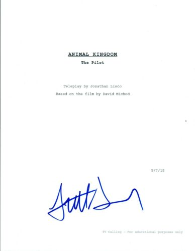 Scott Speedman Signed Autographed ANIMAL KINGDOM Full Pilot Script COA