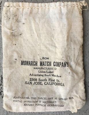 1930s Handbags and Purses Fashion ca.1930's San Jose, Calif MONARCH MATCH COMPANY Cloth BAG: Mailing MATCHBOOKS! $12.99 AT vintagedancer.com