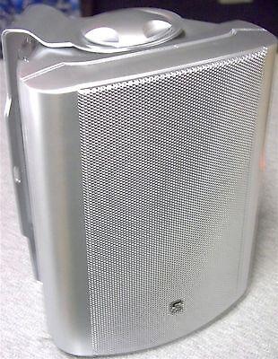 Par De 8 Ohm 100W Plateado Hifi Altavoces Estéreo Con Pared Soportes