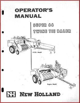 New Holland Super 66 Baler Owner Operators Manual