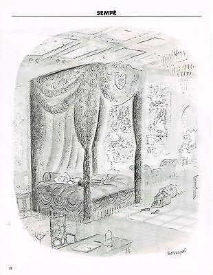 Publicite advertising 015  1994  dessin sempé   le lit à baldaquin