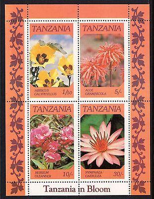 Tanzania 1986 African Flowers Miniature Sheet Unmounted Mint SG474 - 7 FREEPOST