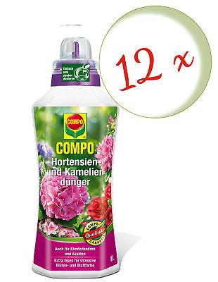 Savings Set: 12 X Compo Hortensien- And Kameliendünger, 1 Litre