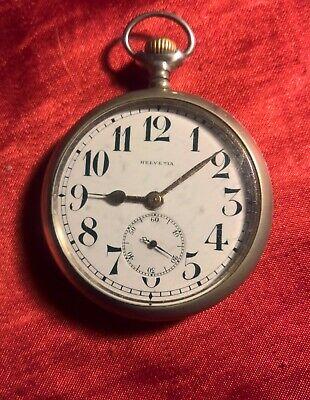 Massive antique pocket watch HELVETIA swiss made