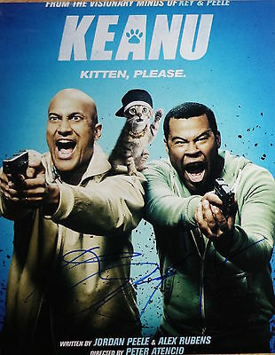 Jordan Peele   Keegan Michael Key Signed Keanu 11X14 Big Photo   Proof