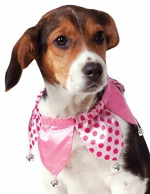 NEW Pink Jester Collar for Dogs/Pets Size M/L Rubie's Pet Shop Boutique #580198
