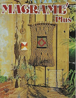 Macrame Plus Craft Instruction Pattern Book HH11 Wall Hangings & Plant Hangers](Macrame Plant Hanger Instructions)