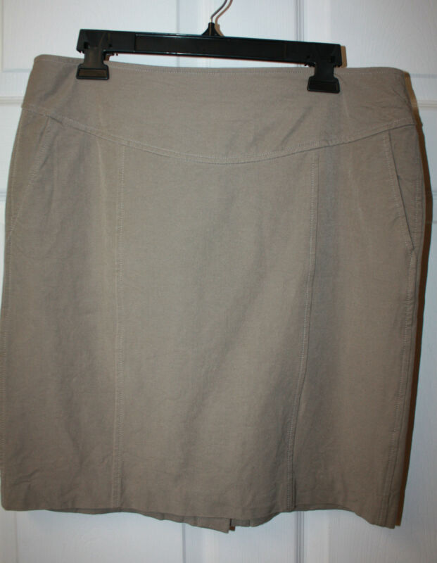 Womens Ladies Banana Republic Khaki Stretch Straight Skirt Size 14