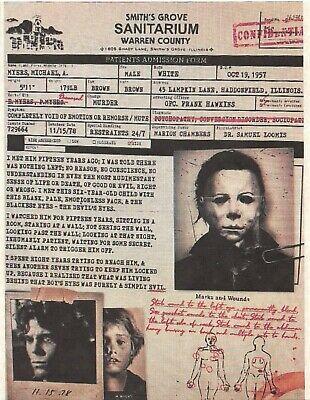 1978 Halloween Smiths Grove Sanitarium Michael Myers > Haddonfield Illinois