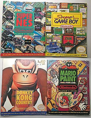Super Nintendo SNES Official Player's Guides Lot of 4 90s Mario Donkey Game Boy