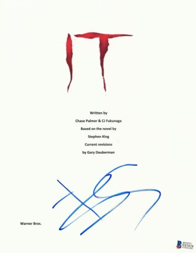 BILL SKARSGARD SIGNED AUTOGRAPHED IT MOVIE SCRIPT AUTHENTIC BECKETT BAS COA 2