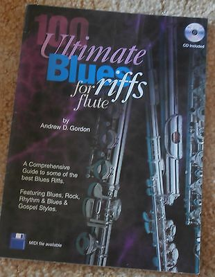 Ultimate Blues Riffs for Flute Blues Rock Rhythm & Blues Gospel Music Book NO CD