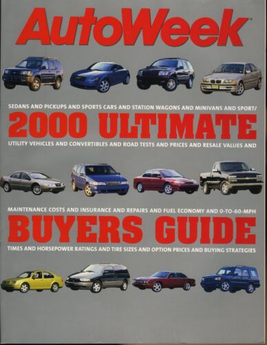 2000 AutoWeek Ultimate Buyers Guide BMW M Coupe Porsche 911 Carrera 4