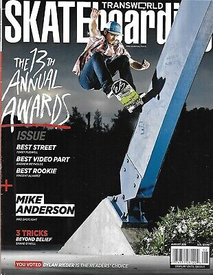 Transworld Skateboarding Magazine The 13th Annual Awards Issue Mike Anderson