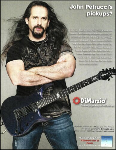 John Petrucci Dream Theater 2010 DiMarzio Guitar Pickups ad 8 x 11 advertisement