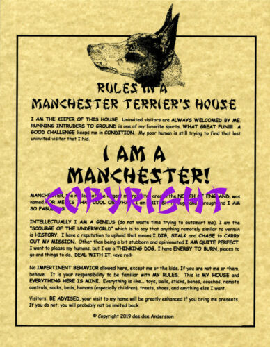 Rules In A Manchester Terrier