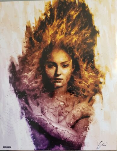 Dark Phoenix Girl On Fire Bam Box 8 X 10 Exclusive Print By Kim Martin W/COA - $9.99