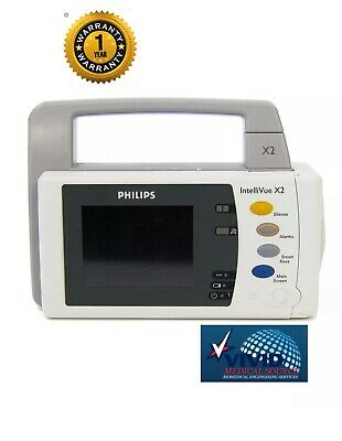 Philips IntelliVue X2 M3002A - ECG, SpO2, MPB, Temp, IBP - SN DE73602147