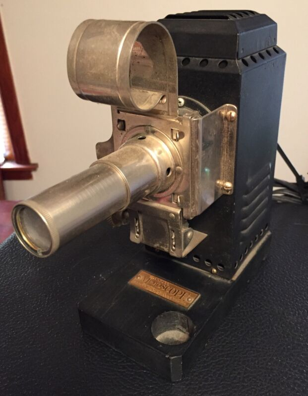 Antique 1930s Agfa Ansco Memoscope Projector for 35MM Camera Original Wood Base